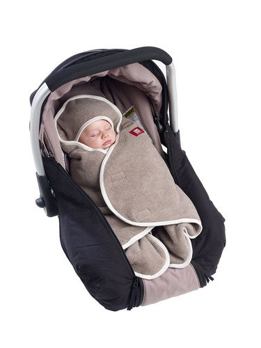 Otulacz rożek Babynomade 0-6m Double Fleece Heather beige /Ecru, Red Castle